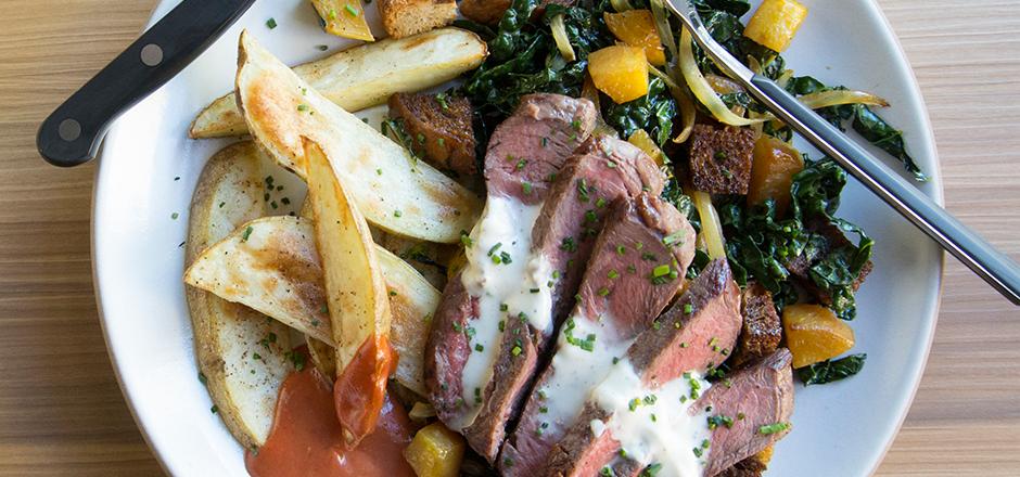 Steak & Beet Panzanella