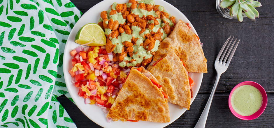 QUESADILLAS WITH PINEAPPLE SALSA